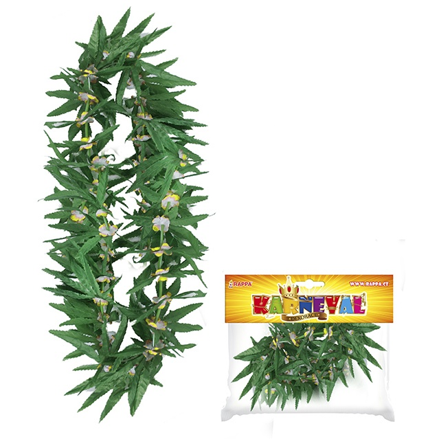Věnec Hawaii zelený s květy, 2 druhy