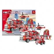 stavebnice AUSINI hasiči velká, 697 dílů