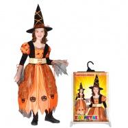 Karnevalový kostým čarodějnice halloweenská, vel. S