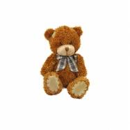 Plyšový medvěd s mašlí a záplatou, 20 cm
