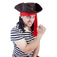 Klobouk pirát s vlasy, dospělý