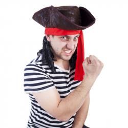 Klobúk pirát s vlasmi, dospelý