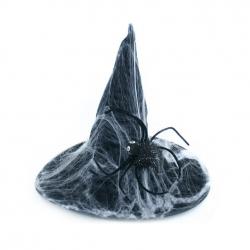 klobúk čarodejnícky / halloween s pavučinou, dospelý