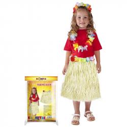 Sukně Hawaii dětská 45 cm, přírodní
