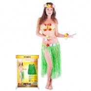 sukně Hawaii dospělá 72 cm, zelená