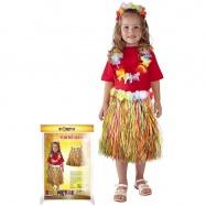 Sukně Hawaii dětská, barevná, 45 cm