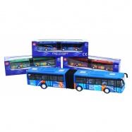 Autobus kovový kloubový 3 druhy