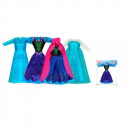 oblečenie pre bábiku zimné kráľovstvo, 4 druhy