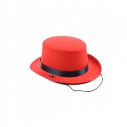 Klobúk tvrdý klobúk mini červená