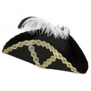 klobouk pirátský s peřím, dospělý