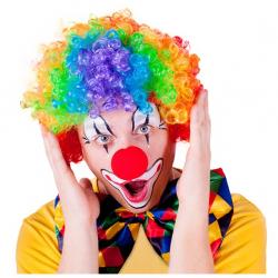 paruka klaun barevná, dospělá