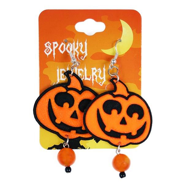 náušnice Halloween dýně