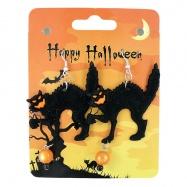 náušnice mačky čarodejnícke / halloweenske