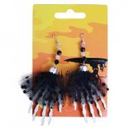 náušnice ruce halloween