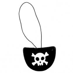klapka na oko pirátska, 6 ks v balení