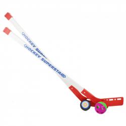 Hokejky s loptičkou a pukom, 80 cm