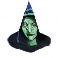 klobouk čaroděj/halloween dětský, světlo + zvuk