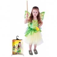 Karnevalový kostým víla Zelenka s krídlami, veľ. S