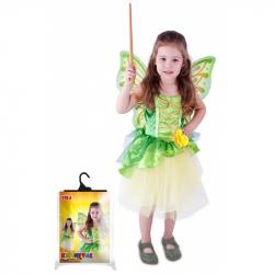 Karnevalový kostým víla Zelenka s křídly, vel. S