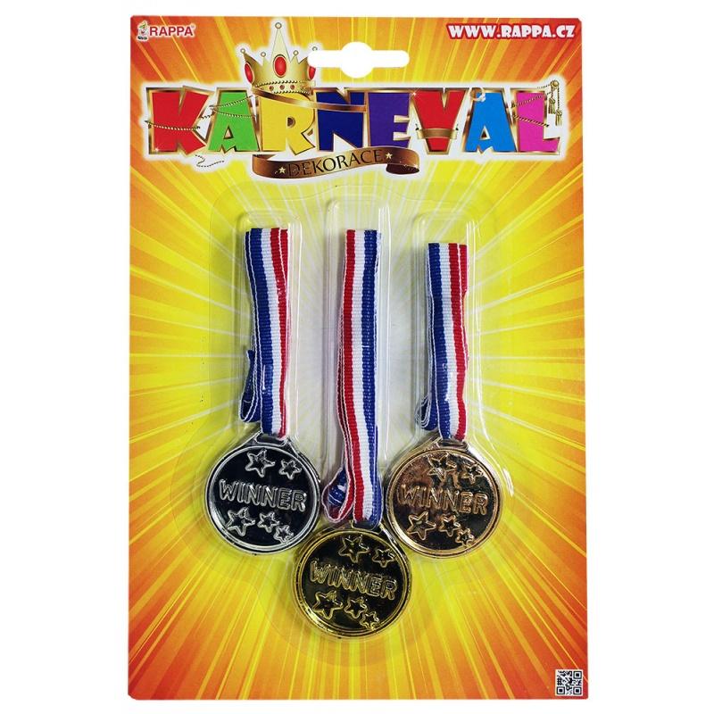 Medaile, 3 ks