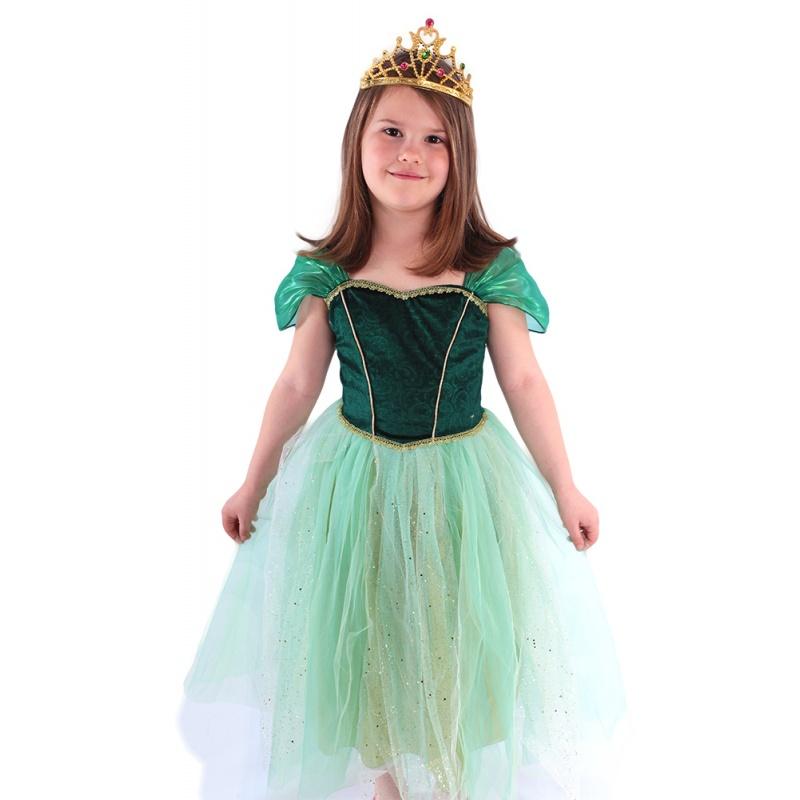 19f3c3d65bfe Karnevalový kostým princezná Anička zelená