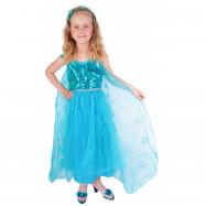 karnevalový kostým princezna zimní království Eliška DELUXE, vel. S