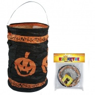 lampion Halloween - dýně , čajová svíčka, 15 cm