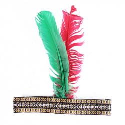 Indiánska čelenka s perím