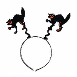 čelenka mačka halloween / čarodejnice