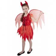karnevalový kostým čertica detská, veľ. M