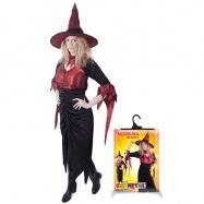 Karnevalový kostým čarodějnice/halloween dospělá, vel. M