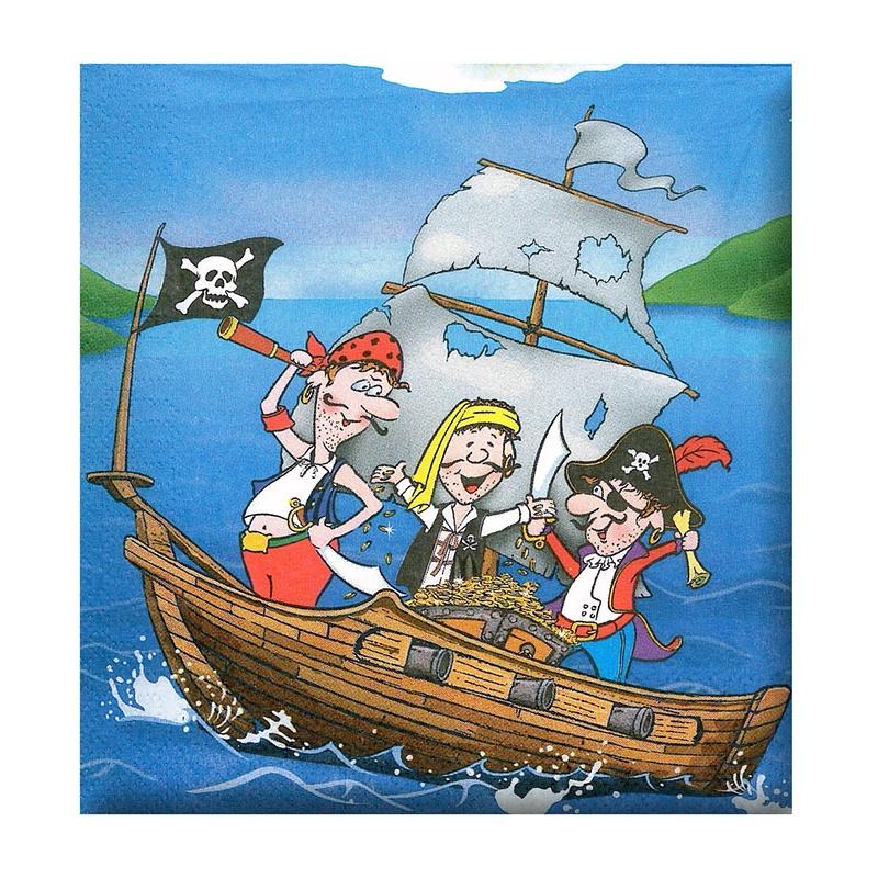 ubrousek párty - pirát, 12 ks v sáčku
