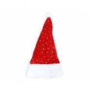 Čepice vánoční stříbrné hvězdy