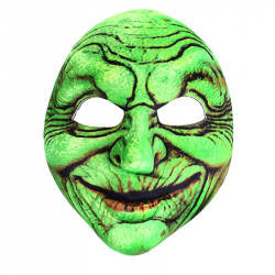 maska čarodějnice zelená