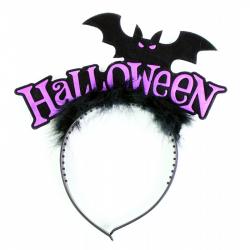 čelenka netopier s perím Halloween