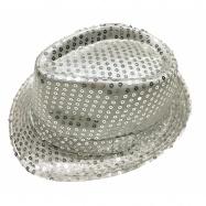klobouk disco stříbrný dospělý