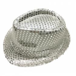 klobúk disco strieborný dospelý