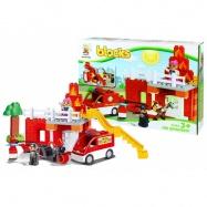 Stavebnice blocks kostky hasiči, 47 ks