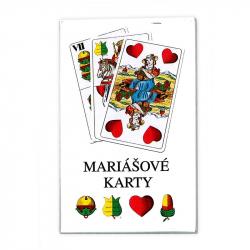 karty mariášové, dvojhlavé, pap.krabička
