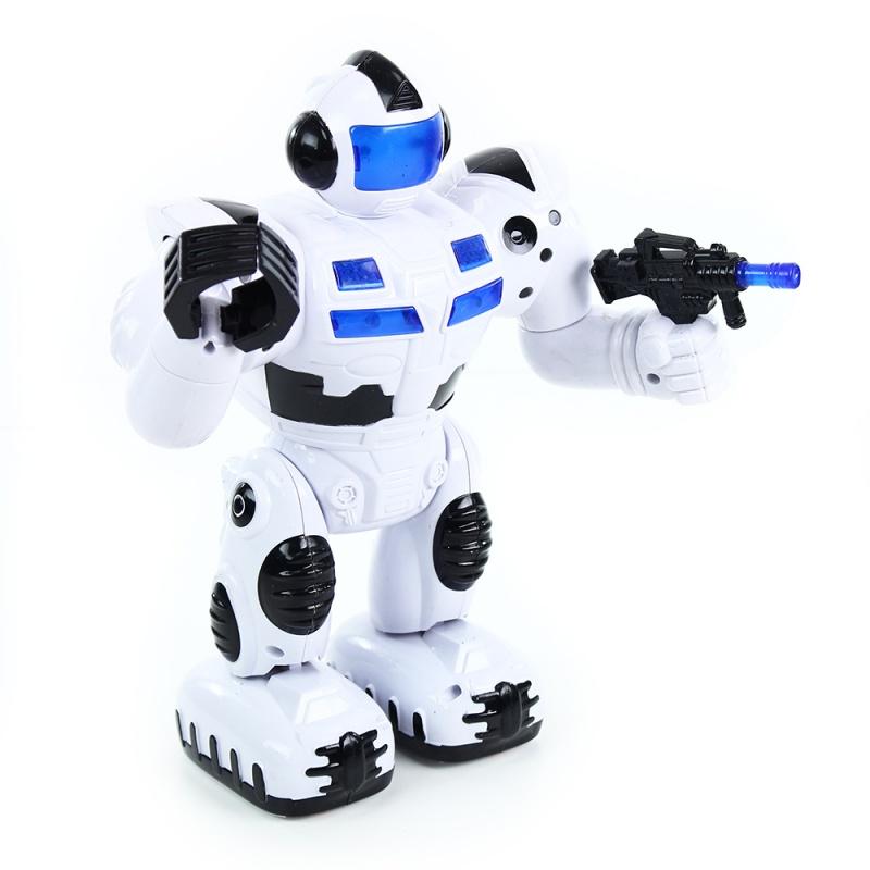 robot chodící se zvukem a světlem