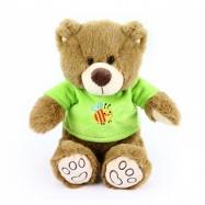 plyšový medvěd 26 cm v oblečku hnědý