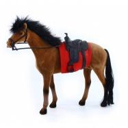 kůň fliska 32 cm hnědo černý