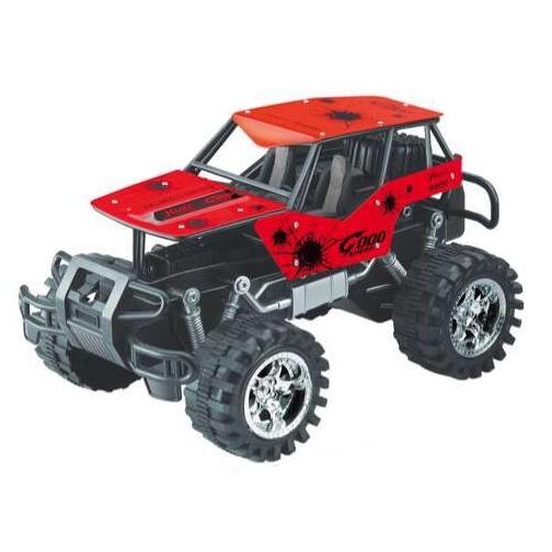 auto jeep terénní červený
