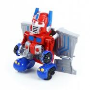 robot rozložitelný červený se zvukem a světlem