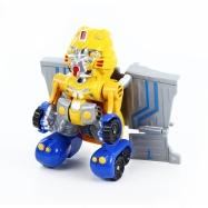 robot rozložitelný žlutý se zvukem a světlem
