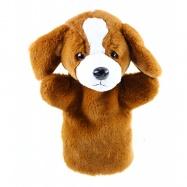plyšový maňásek pes 26 cm hnědý