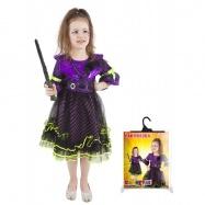 Karnevalový kostým čarodějnice/halloween fialová vel. M