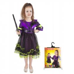 Karnevalový kostým čarodejnice / halloween fialová vel. M