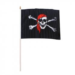 vlajka pirátska, 47x30 cm
