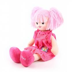 panenka hadrová 50 cm růžová